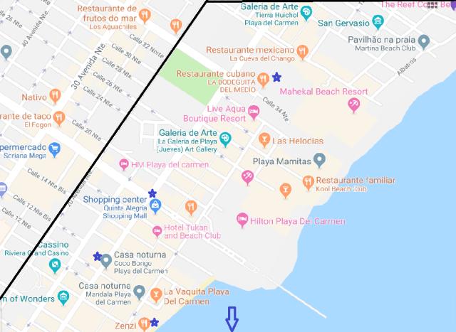 Mapa Playa