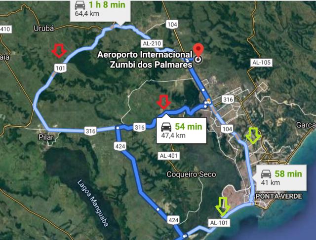 Mapa Al Aero